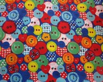 """1/2 yard of 100% cotton """"Buttons"""" fabric"""