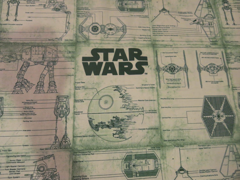 Star Wars blueprint Fabric 100% cotton by BeautymeFashion ...