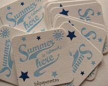 Custom Letterpress Coasters