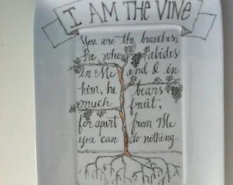 I Am the Vine Platter