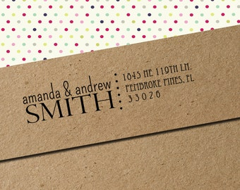 Custom Return Address Rubber Stamp AND INK PAD color of your choice- Amazing Housewarming Gift!