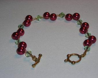 Holiday Cranberry Bracelet