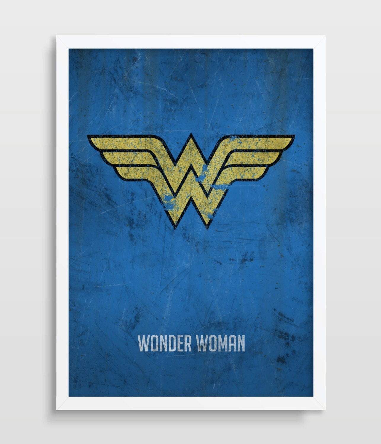 wonder woman poster superheroes superhero wall art. Black Bedroom Furniture Sets. Home Design Ideas