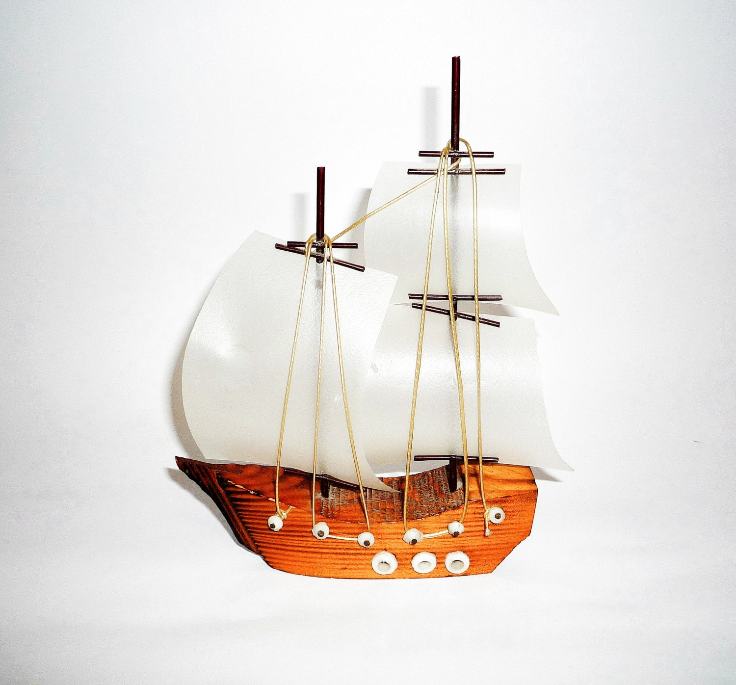Vintage decorative wooden ship home decor nautical decor for Ship decor home