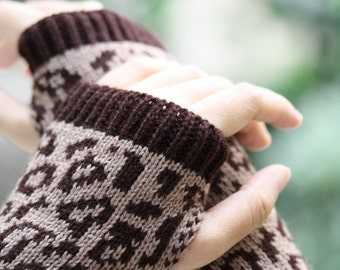 Long Hand-knitted  Gloves  Wrist Warmers