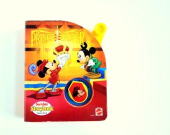 Vintage Disney Prince And The Pauper See'n Say Storybook