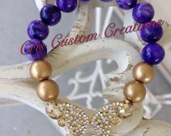 Bling Butterfly Bracelet