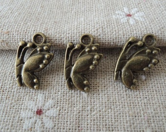 20Pcs  17X11mm antique bronze  butterfly charming (A205)