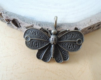 8Pcs  42X32mm  antique bronze  butterfly charming (A270)
