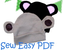 Chemo Cap Sewing Pattern, infant hat pattern, baby bonnet pattern, newborn sewing pattern, easy, simple, quick, baby shower gift, pdf