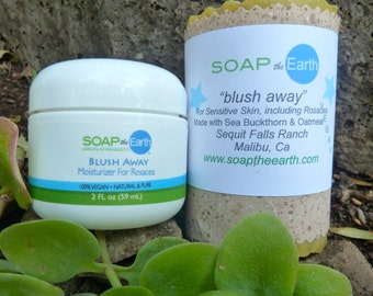 Rosacea Moisturizer and Soap Set Organic Ingredients Vegan