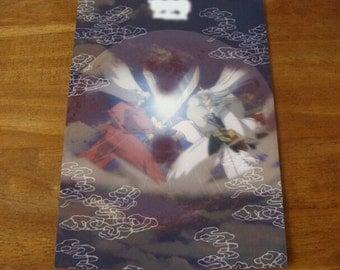 Inuyasha movie printed paper sheet.Inuyasha & Sesshomaru Japan Anime Kawaii