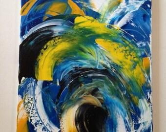 Original Abstract Art Painting Rising Tide Acrylic Armen Antaramian