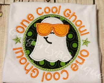 One Cool Ghoul Halloween Shirt or Bodysuit, Ghost shirt, Boy Halloween Shirt, Halloween, Trick or Treat, Halloween Shirt, One Cool Ghoul