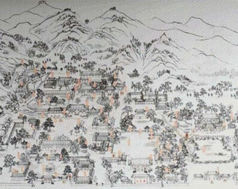 Huaqing Hot Springs PDF Cross Stitch Pattern