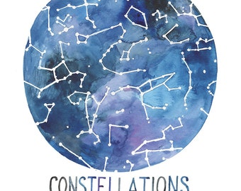 Constellations of the Northern Hemisphere 11 x 14 print