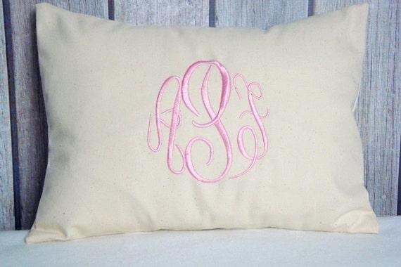 Lumbar Pillow, Pillow Cover, Natural Pillow, Monogrammed Pillow, Chevron Pillow, Pillows, Accent Pillow, Nursery Pillow, Wedding Pillow