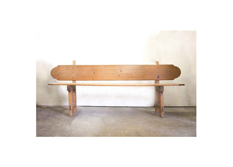 Long Decorative English Pine Bench