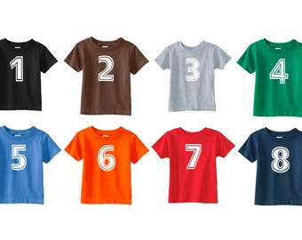 Any Number T-Shirt - available in 8 colors w/ the option of personalization