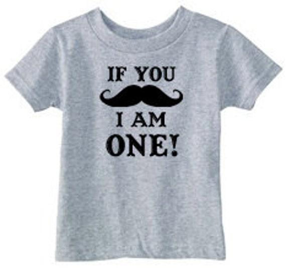 Mustache Birthday T-Shirt - T-Shirt available in 8 colors w/ ANY number!  Great for Birthday parties!