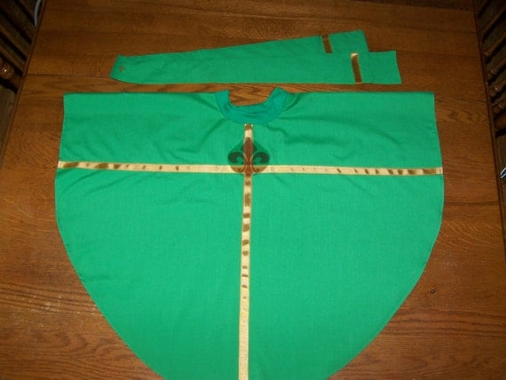Priest Stole to wear with Alb (Chasuble available in another listing)