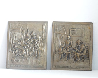 SALE Brass Reproduction of Old Dutch Masters