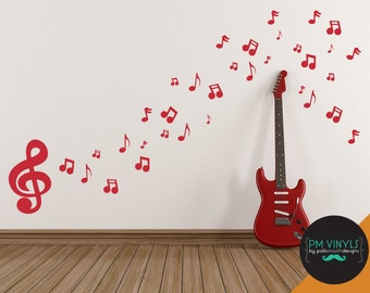 Music Notes Vinyl Wall Decal - MUS005