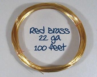 22ga 100ft DS Red Brass Wire