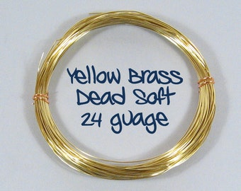 24ga 100ft DS Yellow Brass Wire