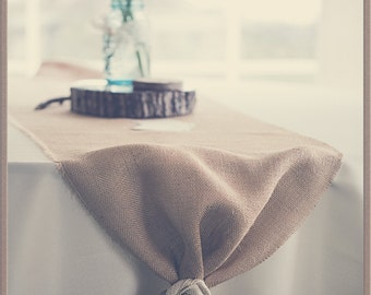 Burlap Table Runner for Weddings, Parties, Special Occasions -- Custom Sizes Available, Burlap Flowers, Rustic Wedding, Table Decoration