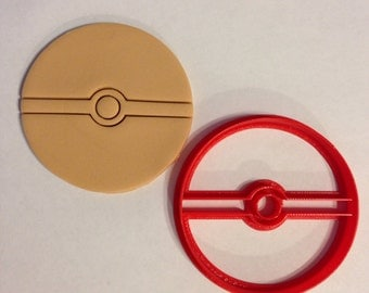 3D Printed Pokeball cookie cutter