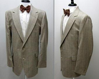 Vintage 80s Mens Sport Coat, 80s Sports Coat, Mens 80s Blazer