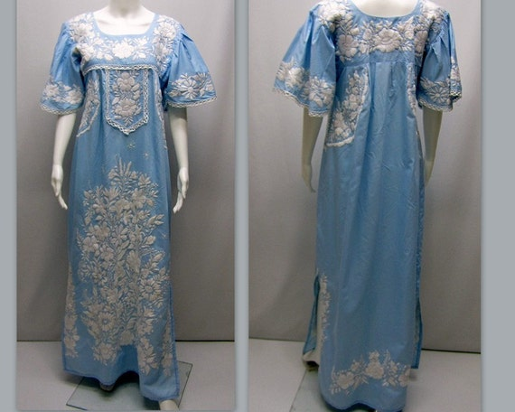 vintage 1970s hawaiian wedding dress muumuu by
