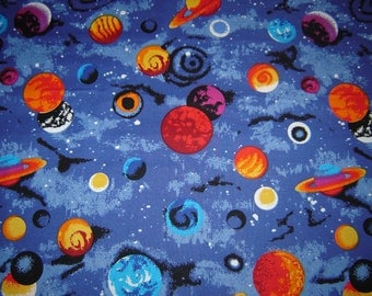 Per yard, Universe and Planets fabric