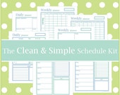 The CLEAN & SIMPLE SCHEDULE Kit - 7 Documents - Instant Download - home binder planner / organizer / daily / weekly / to do list