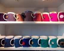 Cupsleeves gifts for coworker mugwarmer eco friendly cozy cup warmer crochet fits to any cup and mug size please choose from 16 colours