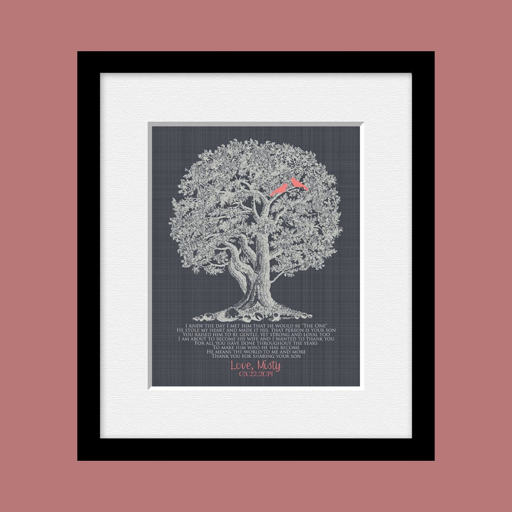 Wedding Day Gift For Grooms Parents Thank You For