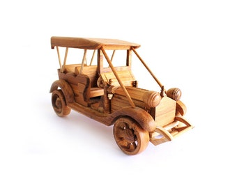 Wooden Toy Classic Car 08 in Handmade