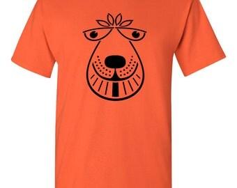Space Hopper T Shirt - 70's retro orange tee