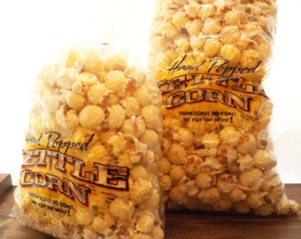 Medium Bags Kettle Corn; Natural Gluten Free, Caramel or Regular Flavor, Birthday Gifts, School Fundraising, Party Favors