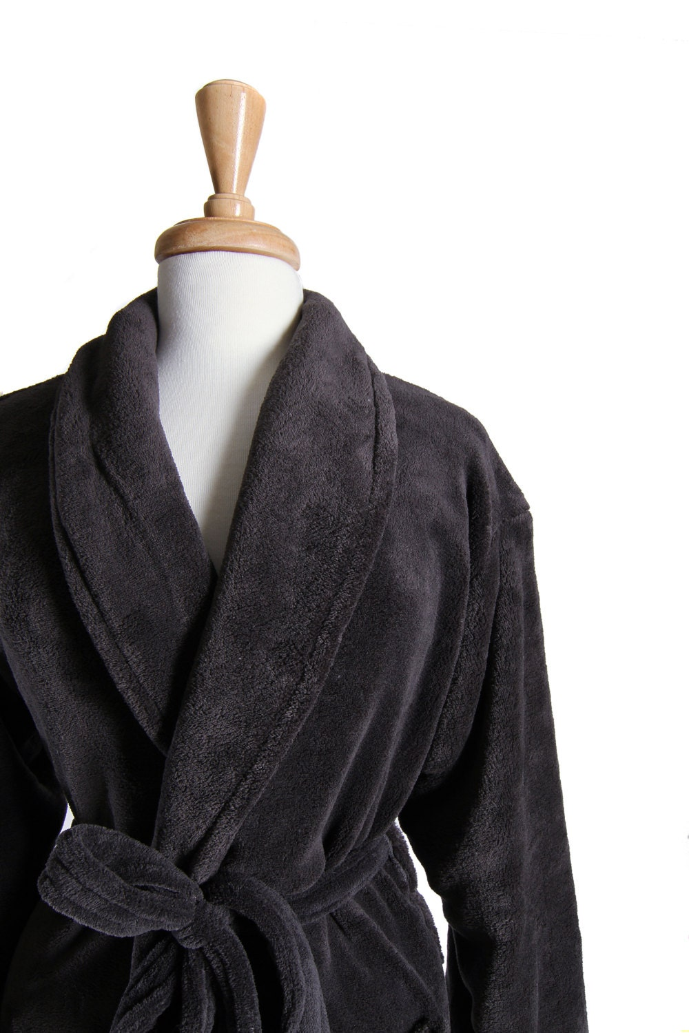 charcoal gray his and hers bath robe mr  and mrs  bathrobes