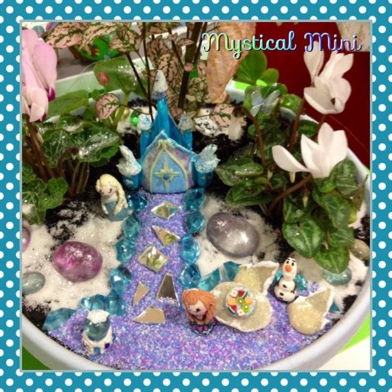 Frozen inspired fairy garden kit miniature garden castle