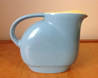 Vintage Blue Serving Pitcher from Hall Pottery made for Westinghouse 1950's