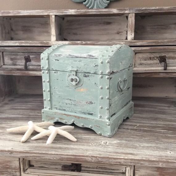 Chic Blue Box Rustic Blue Box Shabby Chic