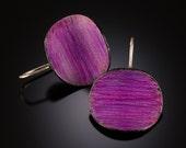 Large Purple Pringle Earrings