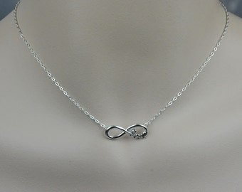 Infinity Love Necklace, Handmade Sterling Silver Wire, Infinity Love Jewelry, Eternity Love Forever Friendship Gift