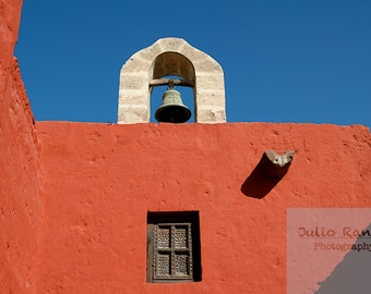 Photo print:  Santa Catalina Monastery in Arequipa, Peru. Photography of architecture. Peru Photography.