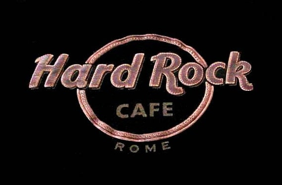 new vintage black hard rock caf rome t shirt by. Black Bedroom Furniture Sets. Home Design Ideas