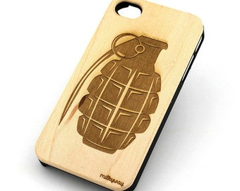W146 Wood Case for Apple Iphone 5C - Grenade