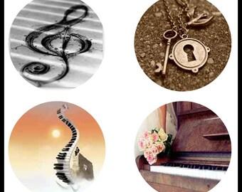Vintage Keys - Digital Designs - Key Design - Digital Download Sheet - 38mm Circle - 38mm Pendants - Bottle Caps - Printable Images - DDP229